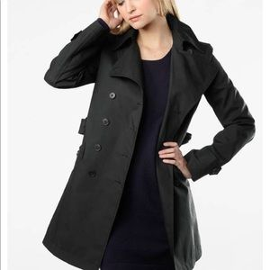 Theory Alexia black trench coat size S + free belt